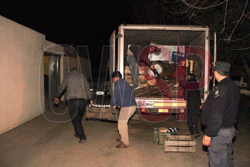 secuestro camion saqueado 2