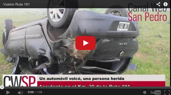 accidente Ruta 191