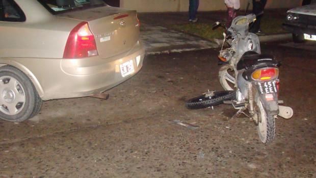 accidente en calle san martin