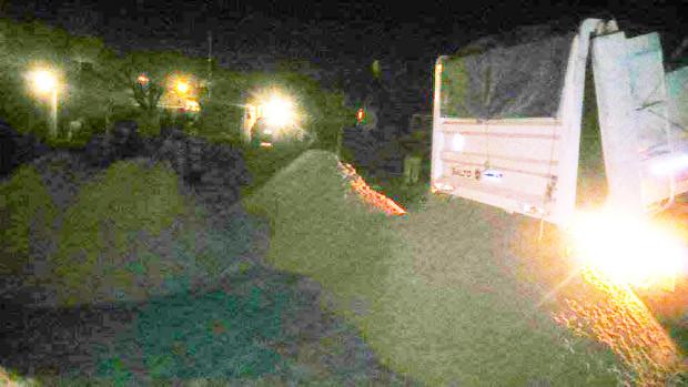 arenero vocando carga