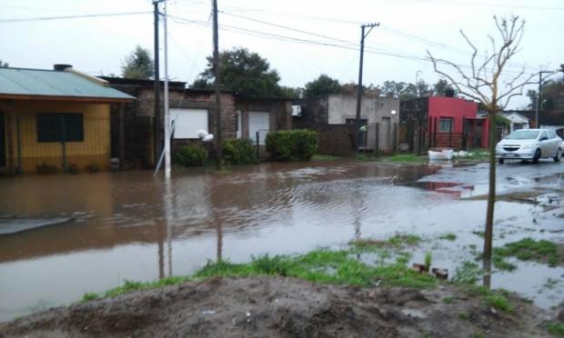 lluvia calles anegadas