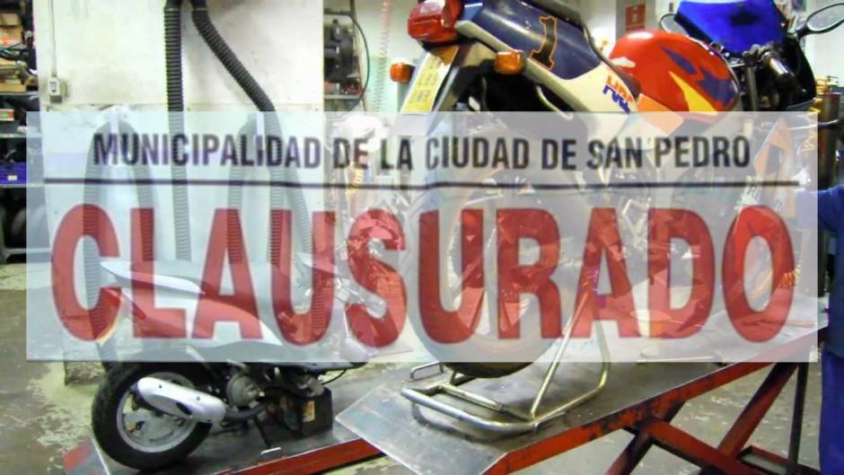 clausura taller de moto