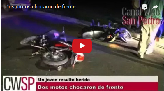 accidente dos motos