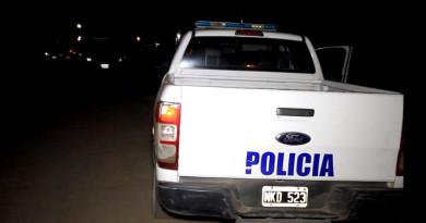 patrullero policial.