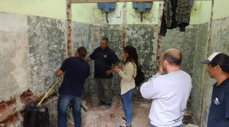 Mejoras en el estadio municipal: Remodelación total de los baños