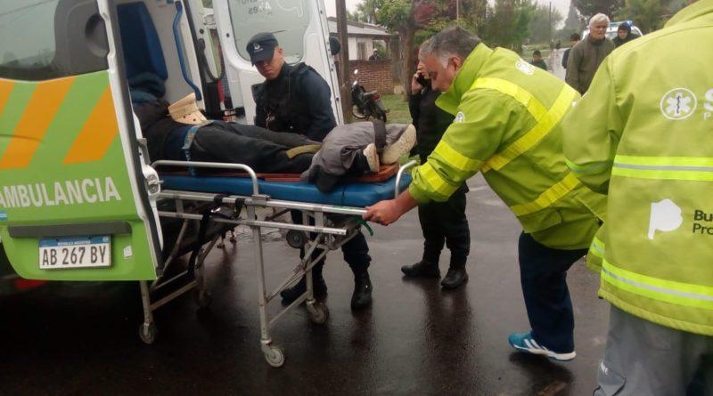 Motociclista fue derivado a la Guardia tras caer con su moto