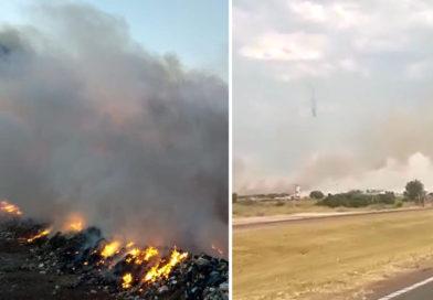 Incendio en el basural de Baradero dificulta la visibilidad en la Ruta 9