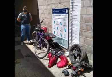 Hno. Indio: Secuestran una moto que estaba siendo desarmada