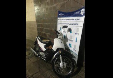 Recuperan una moto robada en un asalto